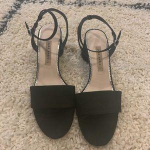 Zara Women's Block  Heel Sandal
